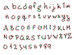 Is there a specific way to write the letters of the English alphabet