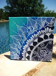 Henna On Canvas By KeepAustinDreaming Etsy 4000