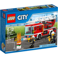 LEGO City Fire Ladder Truck (60107) - Toys
