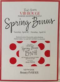 Sephora Spring VIB Rouge Sale Flyer! (Confirmed Dates ... Sephora Vib Sale Beauty Insider Musthaves Extra Coupon Avis Promo Code Singapore Petplan Pet Insurance Alltop Rss Feed For Beautyalltopcom Promo Code Discounts 10 Off Coupon Members Deals Online Staples Fniture Coupon 2018 Mindberry I Dont Have One How A Tiny Box Applying And Promotions On Ecommerce Websites Feb 2019 Coupons Flat 20 Funwithmum Nexium Cvs Codes New January 2016 Printable Free Shipping Sephora Discount Plush Animals