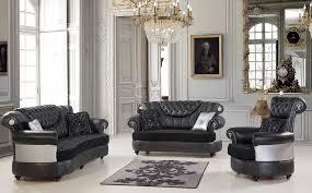 sofagarnitur set pietra 3 2 1 schwarz silber italienisch rokoko