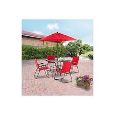 Mainstays Patio Furniture Manufacturer by Amazon Com Mainstays Searcy Lane 6 Piece Padded Folding Patio