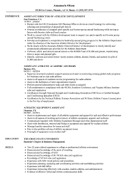 Download Assistant Athletic Resume Sample As Image File
