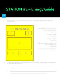 Using The How To Read EnergyGuide Label And Examples Fill In Template