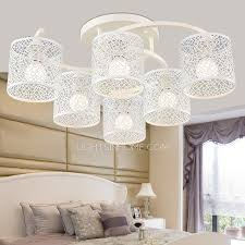 6 Light White Color Iron Shade Shabby Chic Ceiling Lights