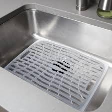 Kitchen Sink Stinks When Running Water by Amazon Com Oxo Good Grips Sink Mat Large Dish Racks Kitchen