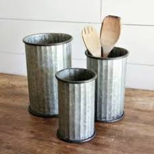 Metal Flower Planters Set Of 3