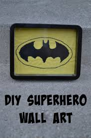 handmade gifts for boys day 5 diy superhero wall art if only