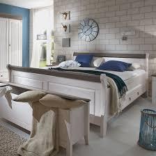 maison belfort massivholz doppelbett cenan massivholz weiß grau mit bettkasten