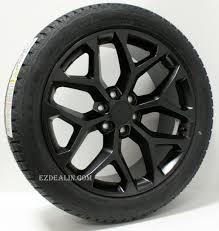 Chevy Style Satin Black Snowflake 22