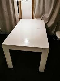 ikea esstisch tisch wohnzimmer 160x90cm ausziehbar weiß