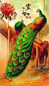 Peacock Paintings Wallpaper Hd