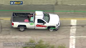 Chase Of Stolen U-Haul Ends With 2 Suspects Kissing In Front Of ...