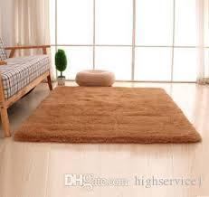großhandel günstige flauschigen teppiche anti skid shaggy bereich teppich esszimmer home schlafzimmer teppich bodenmatte 14 farbe 5 größe 1200mm