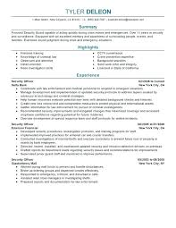 Security Resume Samples Guard Simple Examples Information Manager Sample