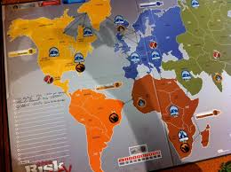 Risk Legacy Game Board