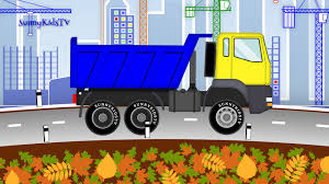 Vehicles For Kids. Excavator. Dump Truck. Cartoon |