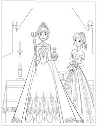 Frozen Coloring Pages Else Anna By Tanisha