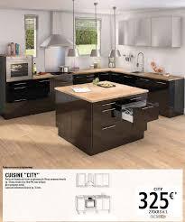 meuble de cuisine noir laqué les cuisines brico dépôt le des cuisines