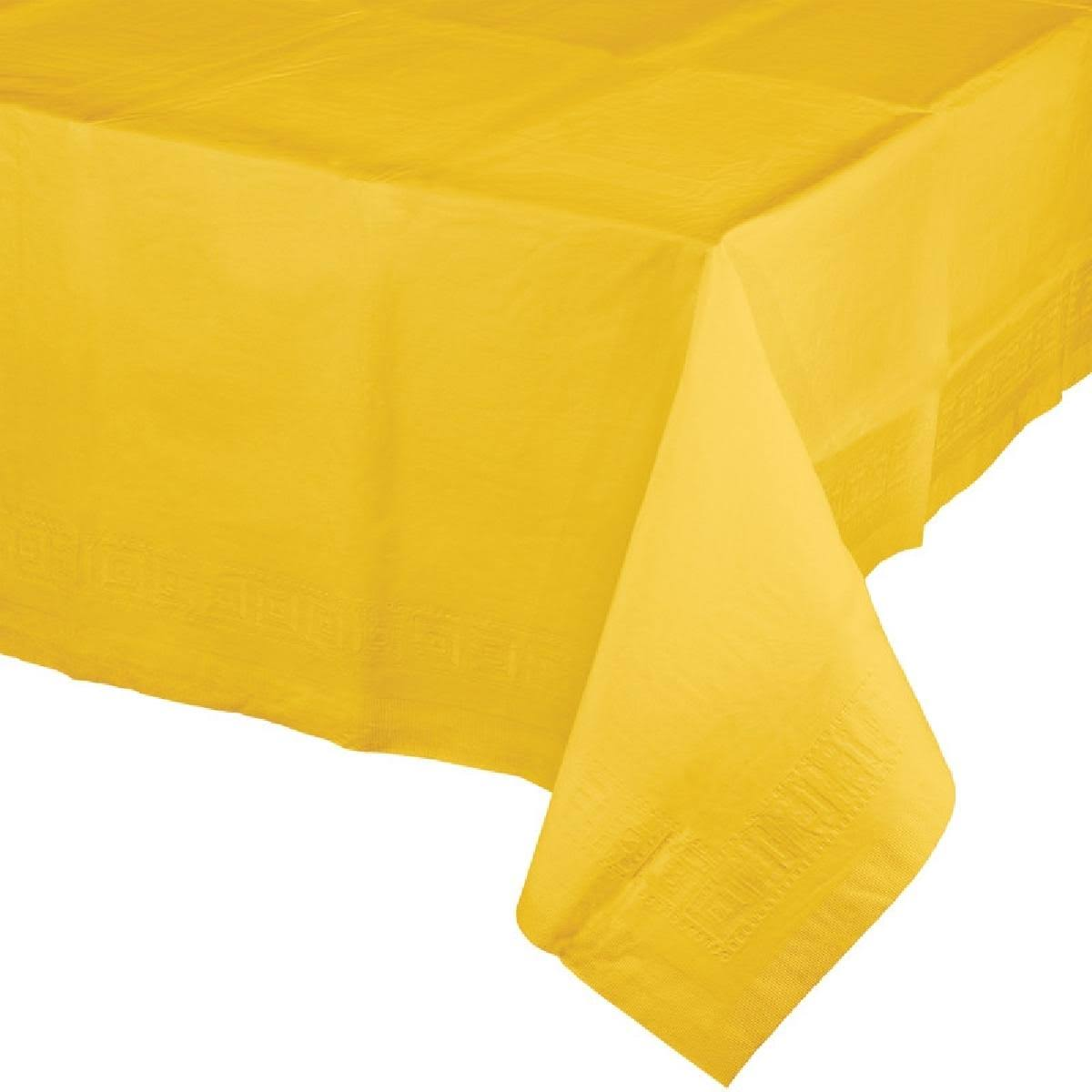 Creative Converting Paper Table Cover - Yellow