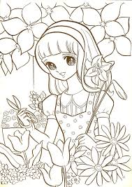 Aeromachia Shojo Manga No Memory Hi This Is Few Coloring Pages From Vintage Book I Bought Weeks Ago