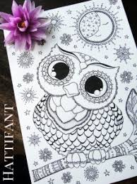 Hattifants Baby Owl Coloring Page
