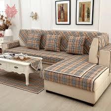 plaid sur canapé decoration plaid furniture brown sofa cover cotton linen lace cor