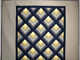 chevron log cabin quilt superb carefully made amish quilts from