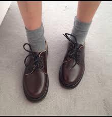 Shoes DrMartens Dr Martens 3 Eye Brown Vintage Tumblr