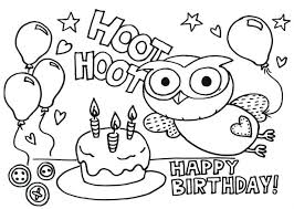 Happy Birthday Cards Coloring Sheets Cake Pages Printable Of