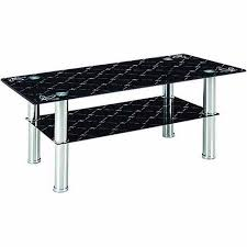 hodedah glass rectangle coffee table black walmart com