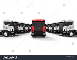 100 Fleet Trucks 3 D Render Image Representing Stock Illustration
