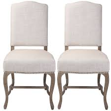 French Country Linen Dining Chair With Stud Feature (Set Of 2) Refinished Painted Vintage 1960s Thomasville Ding Table Antique Set Of 6 Chairs French Country Kitchen Oak Of Six C Home Styles Countryside Rubbed White Chair The Awesome And Also Interesting Antique French Provincial Fniture Attractive For Eight Cane Back Ding Set Joeabrahamco Breathtaking