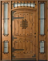 Knotty Alder Solid Wood Front Entry Door