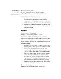 Company Resume Sample Printable Customer Service Template Secretary Trainee