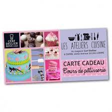 carte cadeau cours de cuisine carte cadeau cours de pâtisserie cerf dellier