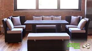Patio Furniture With Hidden Ottoman by Jamaican Multipurpose Sectional Dining And Sofa Set Wicker Patio