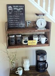 Rustic Kitchen Shelf Coffee Bar