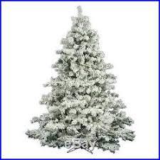 Vickerman Flocked Alaskan Unlit Pine Christmas Tree 9 Ft