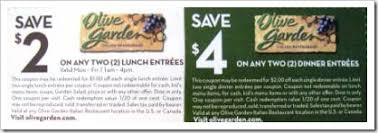 Olive Garden Smart Source Coupons
