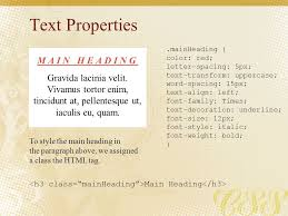 Text Decoration Underline More Space by The Basics Of Cascading Style Sheets Css Ppt Download