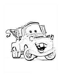 Disney Cars Coloring Page Pages Printable Gusto Car