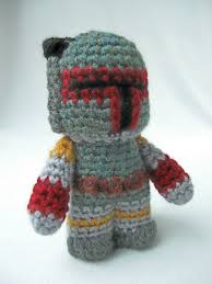 Boba Fett Helmet Pumpkin Stencil lucyravenscar crochet creatures boba fett mini amigurumi