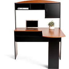 Ebay Corner Computer Desk by Mainstays L Shaped Desk With Hutch Black U0026 Cherry 9324056pcom Ebay