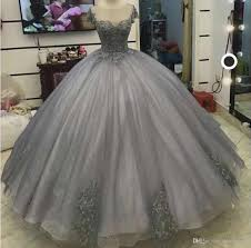 100 Where Is Dhgate Located Jewel Ball Gown Sparkling Capped Short Sleeves Appluqyes Tiers Floor