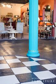 Louisville Tile Distributors Nashville by Floor Tile Painted In Old Ochre And Graphite Chalk Paint