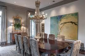 Contemporary Art In An Elegant Dining Room
