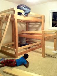 diy bunk bed plans beds with stairs in the large space twin over