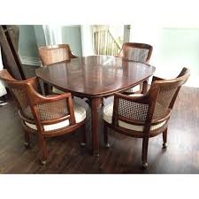 Game Table Chairs Within Henredon With 6 Cane Back Chairish Idea 3