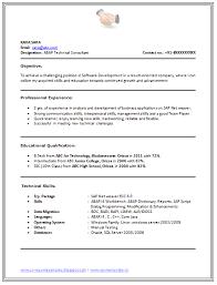 B Tech Resume Format Page 1 Cv Sample Best